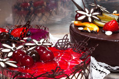 Closeup of a delicious dessert Royalty Free Stock Photography