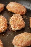 Closeup delicious fried breadcrumbs Stock Photo