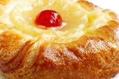 Closeup of delicious fruit Danish Pastry Stock Photos