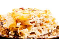 A closeup of delicious homemade mac and cheese. (shallow dof Royalty Free Stock Images
