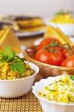 Closeup delicious prepared pilaf, Royalty Free Stock Photos