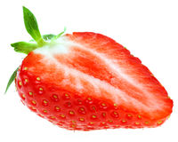 Closeup of delicious red strawberry Royalty Free Stock Photography