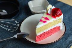 Closeup delicious sweet dessert fresh strawberry decoration on s Stock Photo