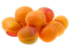 Closeup of delicious yellow peaches Royalty Free Stock Photos