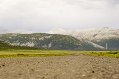 Closeup of the Dempster Highway surface Stock Photography