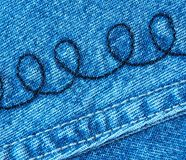 Closeup of Denim Cloth Stock Photography