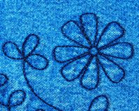 Closeup of Denim Fabric Royalty Free Stock Image