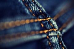 Closeup Denim Jean Stitch Detail Stock Photo
