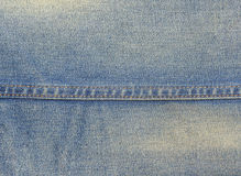 The closeup of denim jeans texture with seams Royalty Free Stock Images
