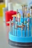 Closeup of dental technician's tools Stock Photos