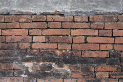 Closeup design of brick wall background Royalty Free Stock Photos