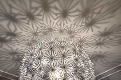 Closeup design ceiling chandelier in a modern Stock Photo