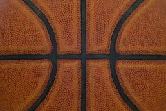 Closeup detail of basketball ball texture background.  stock photo