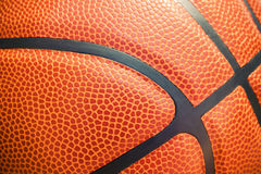 Closeup detail of basketball ball texture background Stock Image