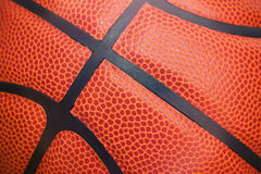 Closeup detail of basketball ball texture background Stock Photo