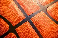Closeup detail of basketball ball texture background Royalty Free Stock Images