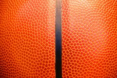Closeup detail of basketball ball texture background Royalty Free Stock Image