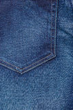 Closeup detail of blue denim pocket Stock Images