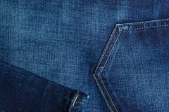 Closeup detail of blue denim pocket Royalty Free Stock Photography