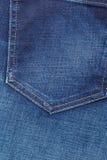 Closeup detail of blue denim pocket Royalty Free Stock Photo