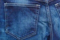 Closeup detail of blue denim pocket Stock Photos