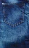 Closeup detail of blue denim pocket Royalty Free Stock Photos