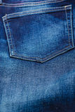 Closeup detail of blue denim pocket Stock Photo