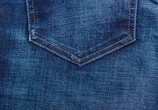 Closeup detail of blue denim pocket Stock Image