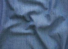 Closeup detail of blue jean fabric texture background Royalty Free Stock Photography