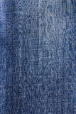 Closeup detail blue jeans fabric background Stock Photo