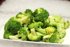 Closeup detail of boiled broccoli Stock Photo