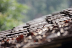 Closeup detail of brown roof Royalty Free Stock Images