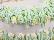 Closeup detail of cake decoration Stock Photos