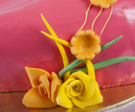 Closeup detail of cake decoration Stock Images