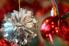 Closeup detail of Christmas decoration on tree Stock Image