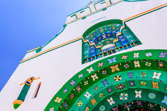 Closeup detail on church, Chamula, Mexico royalty free stock photography