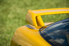 Closeup detail of a custom racing spoiler Stock Photos