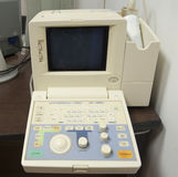 ECG machine in a doctors surgery Royalty Free Stock Images
