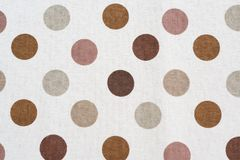Polka dot fabric texture. Closeup detail of fabric texture background Royalty Free Stock Images
