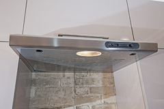 Closeup of cooker hood in kitchen Stock Photo