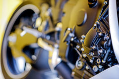 Closeup detail of a motorcycle Stock Photo