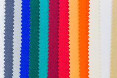 Closeup detail of multi color fabric texture Royalty Free Stock Images