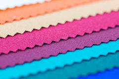 Closeup detail of multi color fabric texture Royalty Free Stock Image