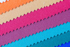 Closeup detail of multi color fabric texture Royalty Free Stock Photography