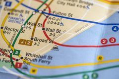 New York City map Royalty Free Stock Photography