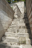 Closeup detail of old stone steps Royalty Free Stock Photo