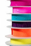 Stack of colourful ribbon, detail Royalty Free Stock Image