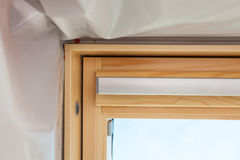 Closeup detail of skylight roof window. royalty free stock photos