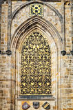 Closeup detail St Vitus Cathedral, Prague Royalty Free Stock Photography