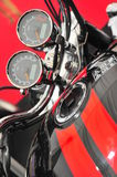Motorcycle revs an mileage gages Stock Photo